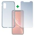 4SM-TPUGLASSIPXSMAX - Pack 2en1 Coque + Vitre protection écran pour iPhone XS-MAX de 4Smarts