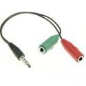 ADAPT-GAMER - Adaptateur audio Jack 3,5mm mâle 4 pôles vers prise casque + micro séparé