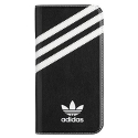 ADIDAS-FOLIOPS7NOIR - Etui Galaxy S7 Adidas folio aspect cuir noir rabat latéral