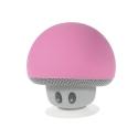 BTCHAMPIGNONROSE - Mini enceinte Champignon rose bluetooth avec ventouse