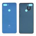 CACHE-MI8LITEBLEU - Dos cache arrière Xiaomi Mi8 LITE coloris bleu