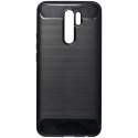 CARBOBRUSH-REDMI9 - Coque Xiaomi Redmi-9 antichoc coloris noir aspect carbone