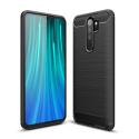 CARBOBRUSH-REDNOTE8PRO - Coque Xiaomi Redmi-Note 8 PRO antichoc coloris noir aspect carbone