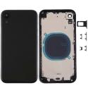 CHASSISVIDE-IPXRNOIR - Châssis complet iPhone XR + boutons coloris noir