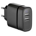 CHVUSBNOIR-15W - Chargeur secteur double USB 15W Eco-Friendly