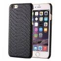 COVPYTHONIP655NO - Coque fine en cuir aspect Python noir pour iPhone 6s Plus 5,5 pouces