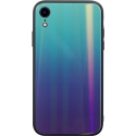 COVRAINBOWIPXRPB - Coque iPhone XR Rainbow bleu violet