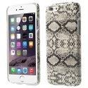 COVSERPENTIP655BLANC - Coque arrière aspect serpent en relief iPhone 6s Plus coloris blanc et noir