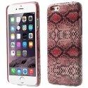 COVSERPENTIP655ROSE - Coque arrière aspect serpent en relief iPhone 6s Plus coloris rose