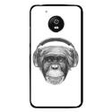CPRN1MOTOG5VIEUSINGECASQ - Coque rigide pour Motorola Moto G5 avec impression Motifs singe avec casque