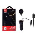 CR201-CACPIX - Chargeur allume cigare iPhone + seconde prise USB 2,4 Ampères