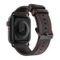 DUX-BUSIWATCH44MARR - Bracelet Apple Watch 42-44mm cuir marron série Business Dux