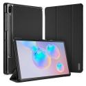 DUX-DOMOTABS6NOIR - Etui Galaxy Tab-S6 noir avec coque rigide et rabat articulé