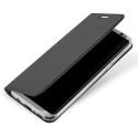 DUX-FOLIOS8GRIS - Etui Galaxy S8 gris fin avec rabat latéral aimant invisible et coque souple