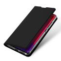DUX-REDMINOTE9S - Etui Xiaomi Redmi Note 9s/9 Pro noir fin avec rabat latéral aimant invisible et coque souple