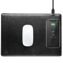 DUXDUCIS-SPACEC4 - Tapis de souris et charge induction sans fil norme Qi coloris noir