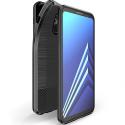 DUXMOJO-A62018 - Coque Galaxy A6-2018 antichoc flexible aspect métal brossé