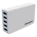 ENERGIZER-5USB40WBLANC - Chargeur secteur familial Energizer 5 prises USB blanc 50W