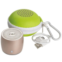EWA-A103GOLD - Mini enceinte sans fil Bluetooth Aluminium gold avec housse et câble