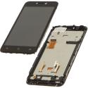 FACE-WIKOY50 - Ecran complet Vitre et dalle LCD Wiko Y50 sur chassis coloris noir