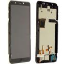 FACE-WIKOY61NOIR - Ecran complet Vitre et dalle LCD Wiko Y61 sur châssis coloris noir