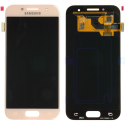 FACEAV-GALA32017ROE - Ecran complet origine Samsung Galaxy A3-2017 coloris rose GH97-19732D