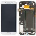 FACEAV-S6EDGEBLANC - Ecran complet origine Samsung Galaxy S6-Edge coloris blanc
