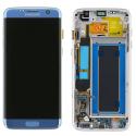 FACEAV-S7EDGEBLEU - Ecran complet origine Samsung Galaxy S7-Edge coloris bleu GH97-18533G