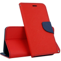 FANCY-A51RROUGE - Etui Galaxy A51 Fancy-Diary rouge logements cartes fonction stand