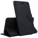 FANCY-A520NOIR - Etui Galaxy A5-2017 Fancy-Diary noir logements cartes fonction stand