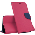 FANCY-IP5CFUSHIA - Etui iPhone 5c Fancy-Diary fushia logements cartes fonction stand