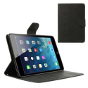 FANCY-IPADMINI123 - Etui iPad Mini 1/2/3 Fancy-Diary noir logements cartes fonction stand