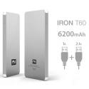 FUNRJ00003 - batterie externe aluminium 6200 mAh 2 ports USB