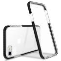 GEMINI-IP7PLUS - Coque antichoc iPhone 7+/8+ Gemini noire et transparente