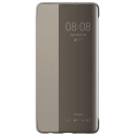 HUAWEI-VIEWP30TAUPE - Huawei P30 Etui latéral SmartView avec fenêtre coloris taupe