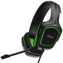 IPEGA-PGR006VERT - Casque Gamer iPega PG-R006 noir et vert avec micro