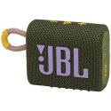 JBLGO3GRN - Enceinte bluetooth JBL Go-3 coloris Green touches roses étanche 5 heures de musique