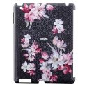 KENZONADIRIPAD2NOIR - Coque Kenzo Nadir noire fleurs rose pour iPad 2 et ipad 3