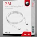 LTP-F9002USBC2M - Câble USB-C mâle/mâle 2 mètres coloris blanc F9002 de LT-Plus