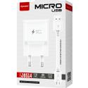 LTP-J8514-MICROUSB - LT-Plus Chargeur secteur USB Fast-Charge + câble micro-USB compact 2A