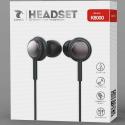 LTP-K6000KPNOIR - Ecouteur filaire jack 3.5mm noir intra-auriculaires pour smartphone et tablette