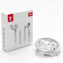 LTP-K6052POD - Ecouteur filaire jack 3.5mm blanc intra-auriculaires pour smartphone et tablette