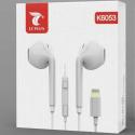 LTP-K6053KPPODBT - Ecouteurs stéréo iPhone 12/11/Xs filaire blanc connectique Lightning