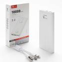 LTP-P8584BLANC - Batterie PowerBank 10.000 mAh blanche avec câble 3 en 1 de LT-Plus