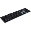 MATIAS-FK318B-FR - Clavier filaire AZERTY USB pour Apple