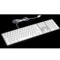 MATIAS-FK318S-FR - Clavier filaire AZERTY USB pour Apple gris et blanc