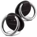 MERCURY-RINGNOIR - Anneau Ring métal noir pour sécuriser la prise en main de votre smartphone
