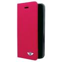 MNFLBKP5YMMRE - Etui iPhone SE et 5s licence Mini rabat latéral rouge logement carte au dos