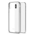 MOSHI-VITROIPXSMAXGRIS - Coque iPhone XS Max Moshi Vitros dos transparent et contour silver