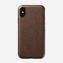 NOMAD-RUGGEDXSMAXMAR - Coque iPhone XS-Max série Rugged en cuir marron de Nomad